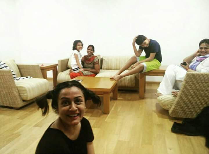 Namrata Shirodkar getting ready for Headshave