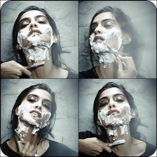 Sonam Kapoor Face Shave