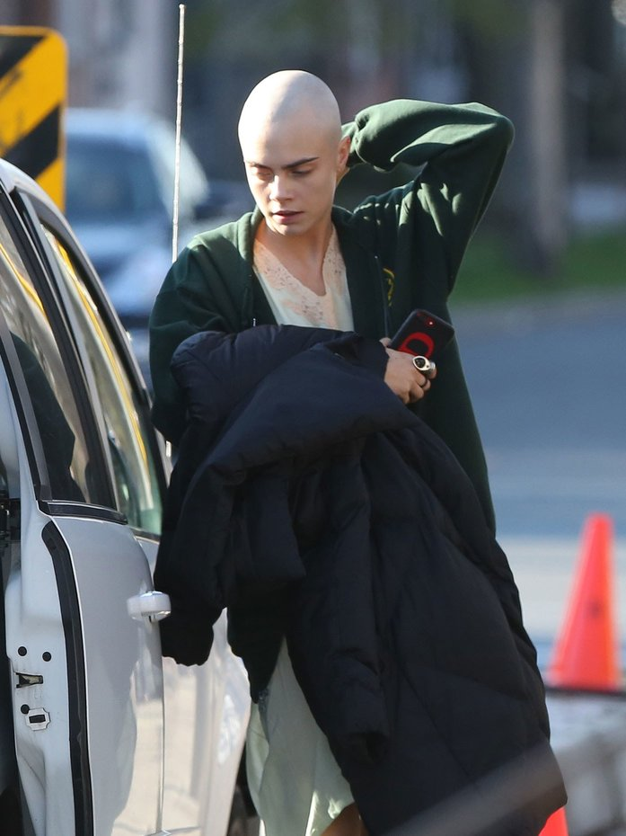 Cara Delevingne Bald Look